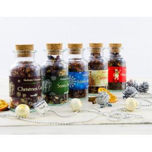 Herbata czarna smakowa Santa Berry w butelce