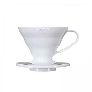 Hario plastikowy Dripper 1 filiż., biały