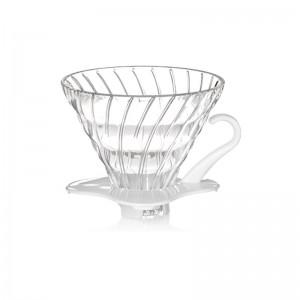 Hario szklany Dripper 2 filiż., biały