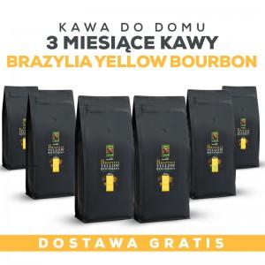 Kawa do domu: 3 miesiące Kawy Brazylia Yellow Bourbon +GRATIS