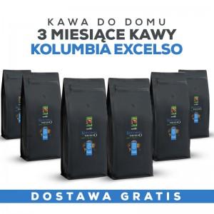 Kawa do domu: 3 miesiące Kawy Kolumbia Excelso +GRATIS