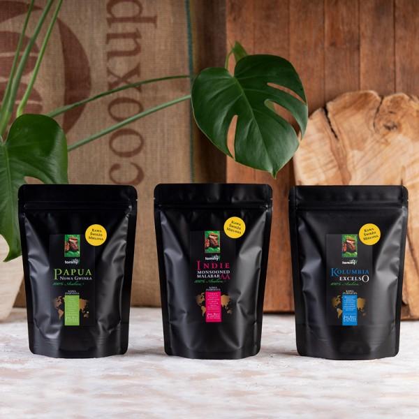 Zestaw kawowy Trzy Kontynenty, wersja mielona