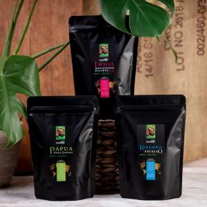 Zestaw kawowy Trzy Kontynenty, wersja ziarnista