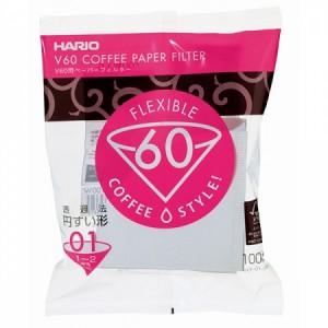 Hario filtry papierowe V60 1 fil., 100szt.
