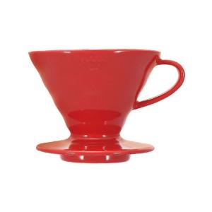 Hario ceramiczny filtr kawowy 2 filiż., czerwony