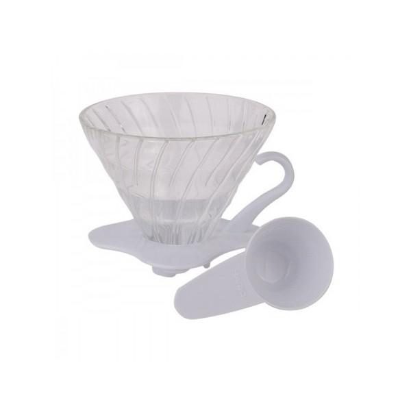 Hario szklany Dripper 1 filiżanka, białe szkło