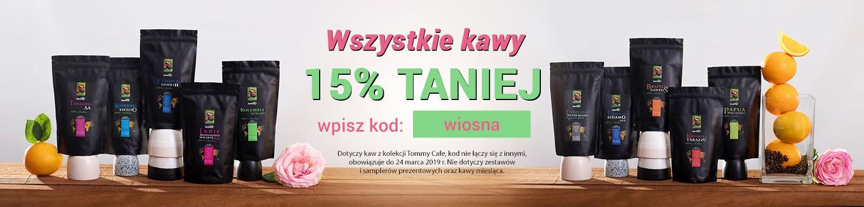 15% zniżki na wszystkie kawy